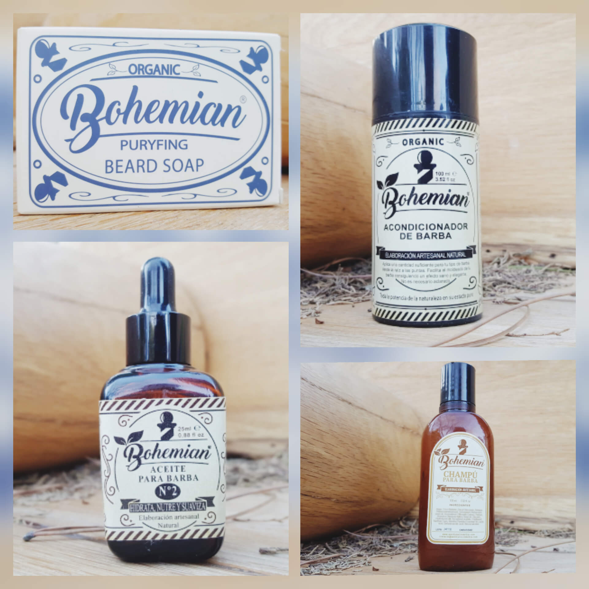 Bohemian men barba cosmetica natural
