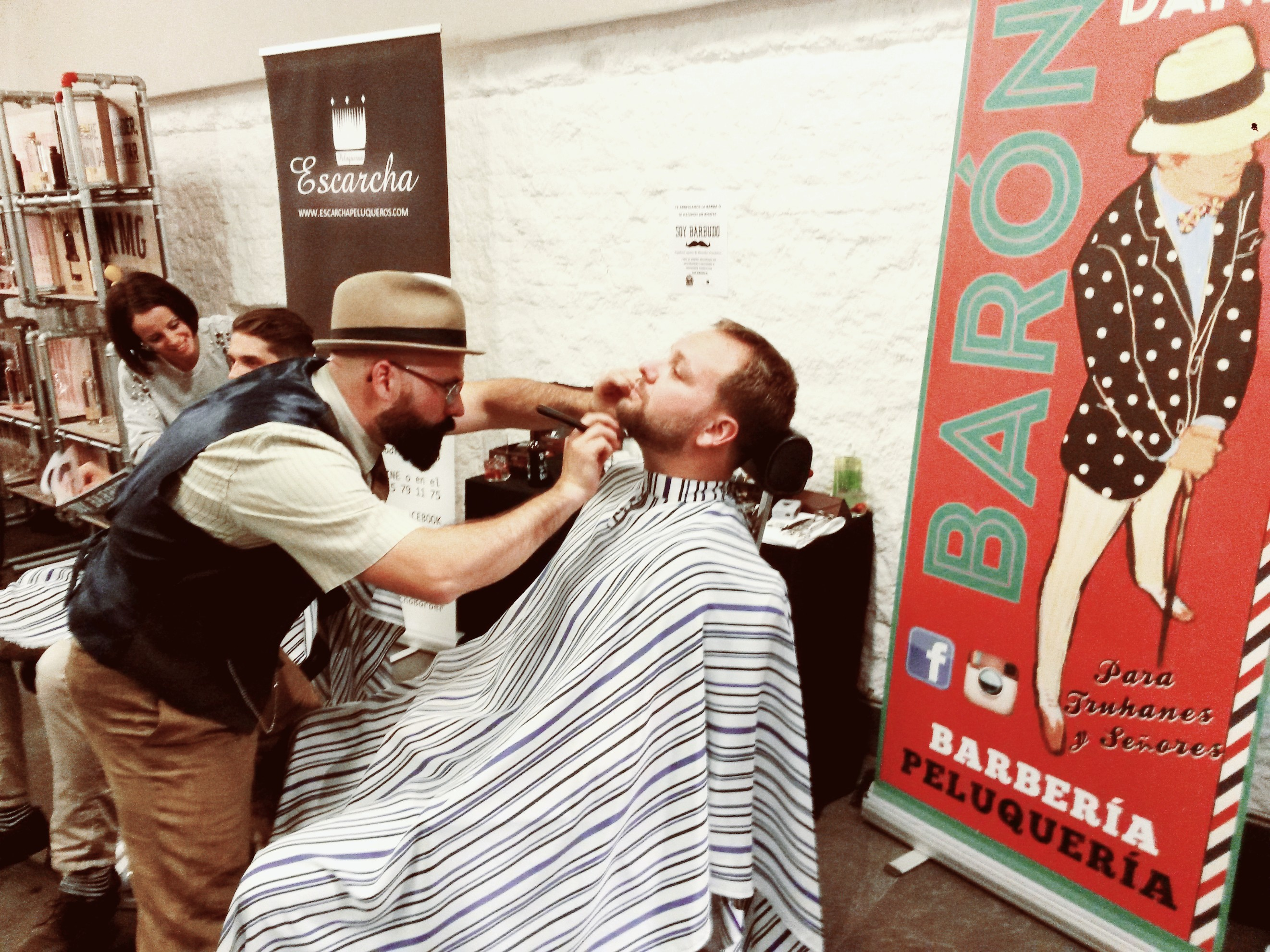 barberías barón badajoz escarcha bohemian natural beards